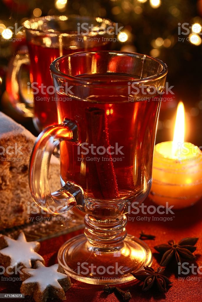 Hot christmas drink royalty-free stock photo