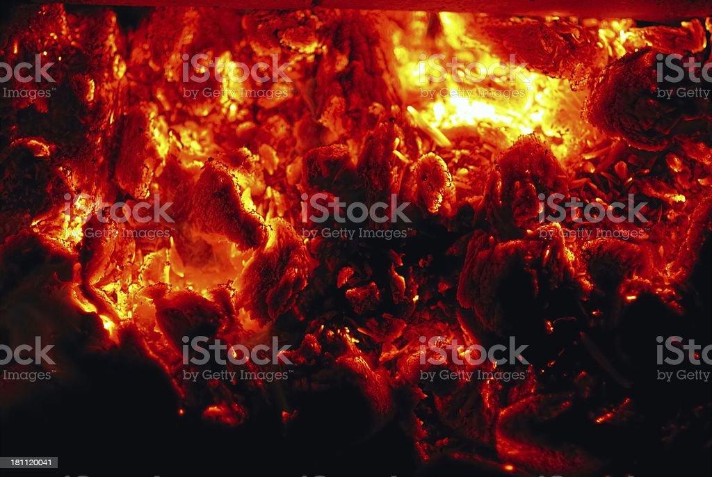 hot coals stock photo