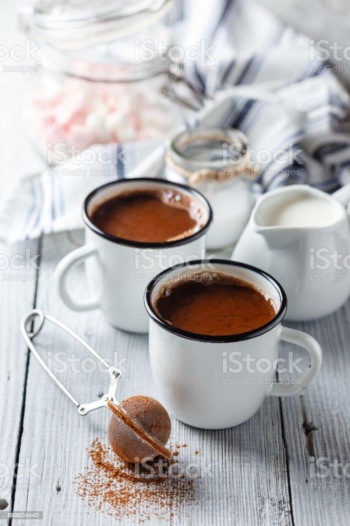 Hot Cocoa with Marshmallows stock photo