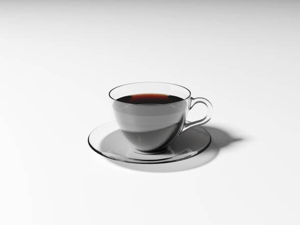 Hot coffee americano on white background stock photo