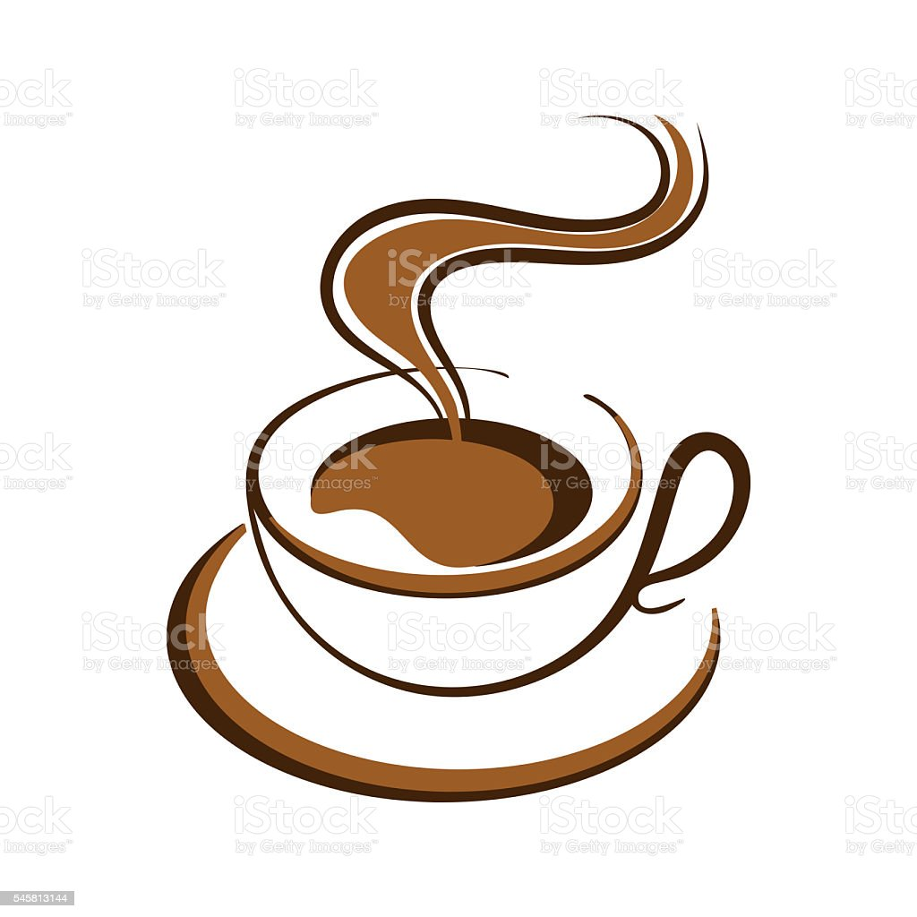 hot coffee cup vector stock photo