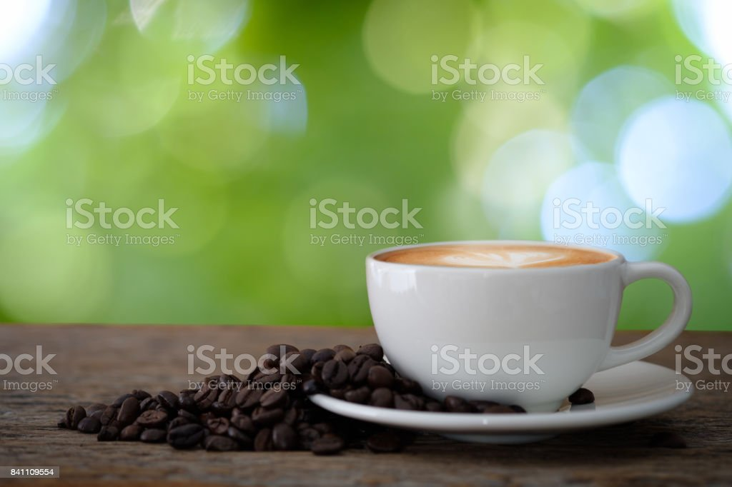 Hot Coffee cup with Coffee stock photo