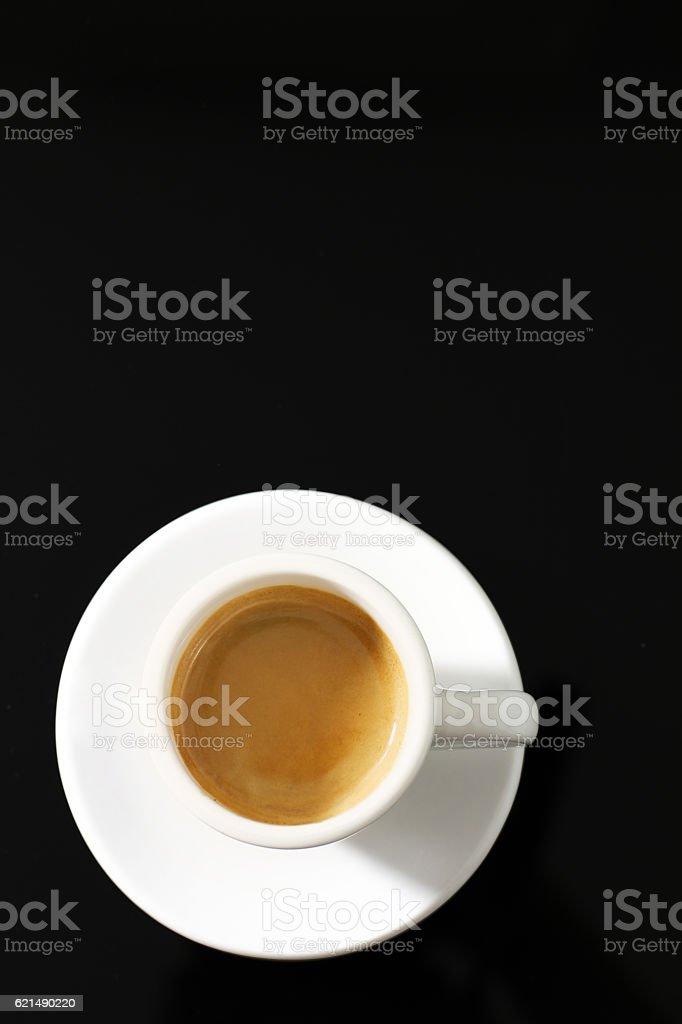 Hot coffee espresso in the black foto stock royalty-free