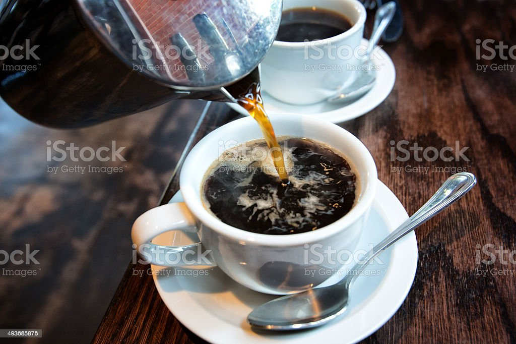 Hot Coffee from a French Press