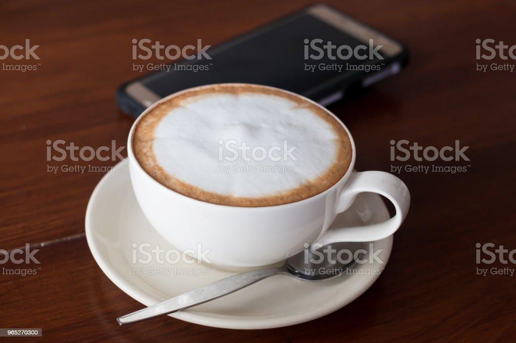 Hot coffee in ceramic glass zbiór zdjęć royalty-free