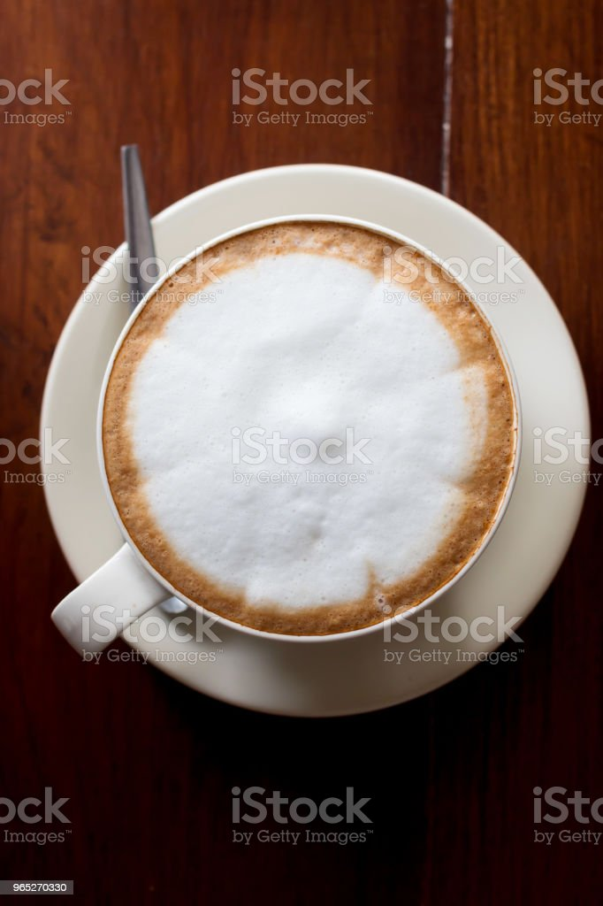 Hot coffee in ceramic glass royalty-free stock photo