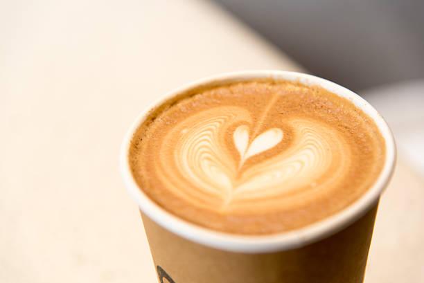 Papier Tasse heißen Kaffee in – Foto