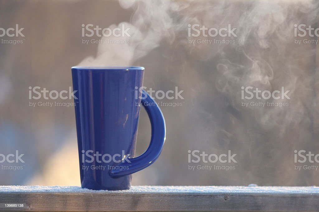 Hot Coffee on a Cold Morning royalty-free stock photo