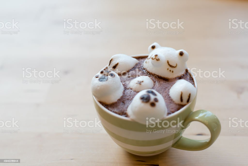 Hot Coffee on a Wooden Tray
