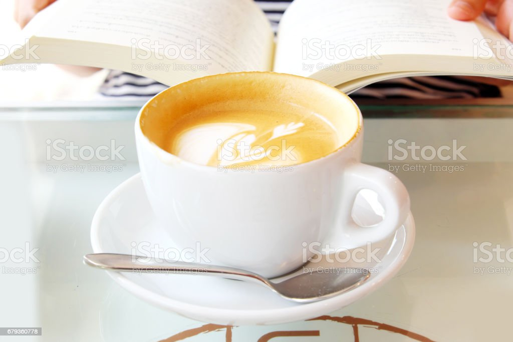 Hot coffee on the table royalty-free stock photo