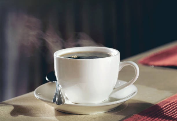 Hot coffee on the table Hot coffee on the table black coffee stock pictures, royalty-free photos & images