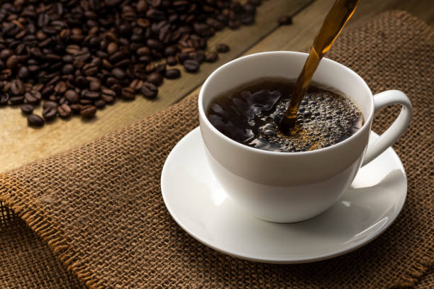 Hot coffee Hot coffee black coffee stock pictures, royalty-free photos & images