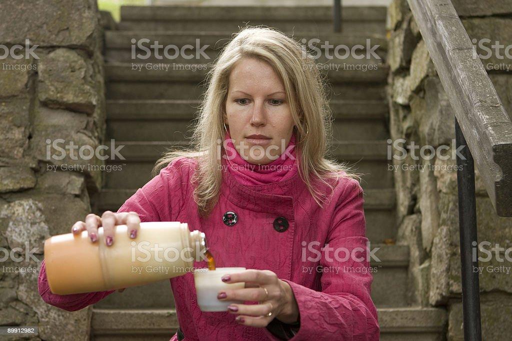Hot coffee royalty-free stock photo