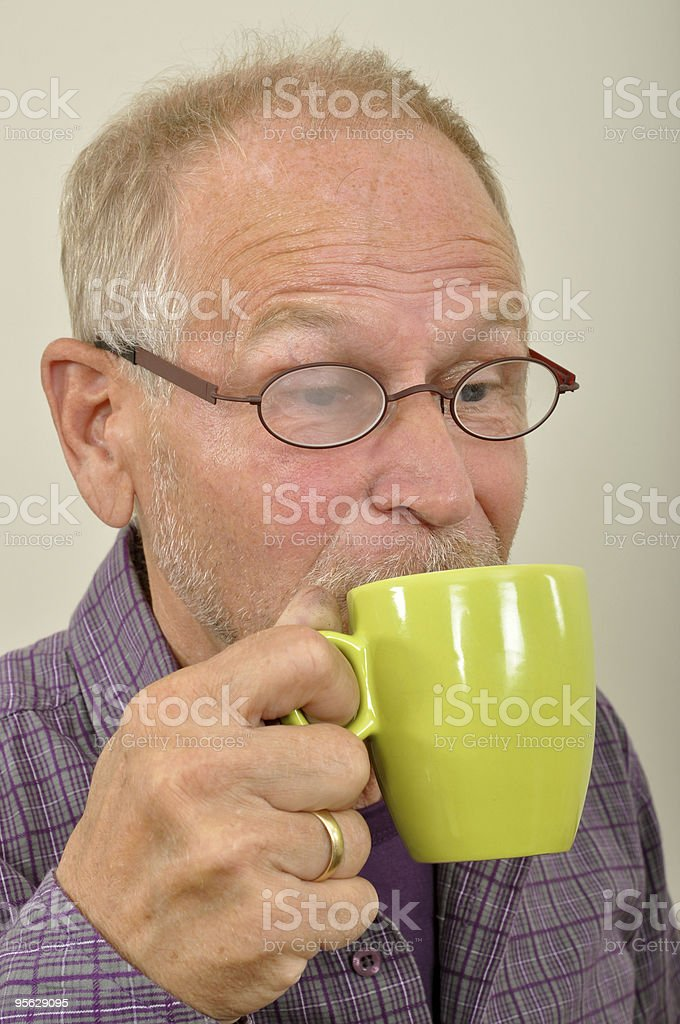 Hot coffee  Eyeglasses Stock Photo
