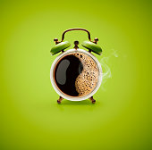 Hot Coffee Retro Alarm Clock