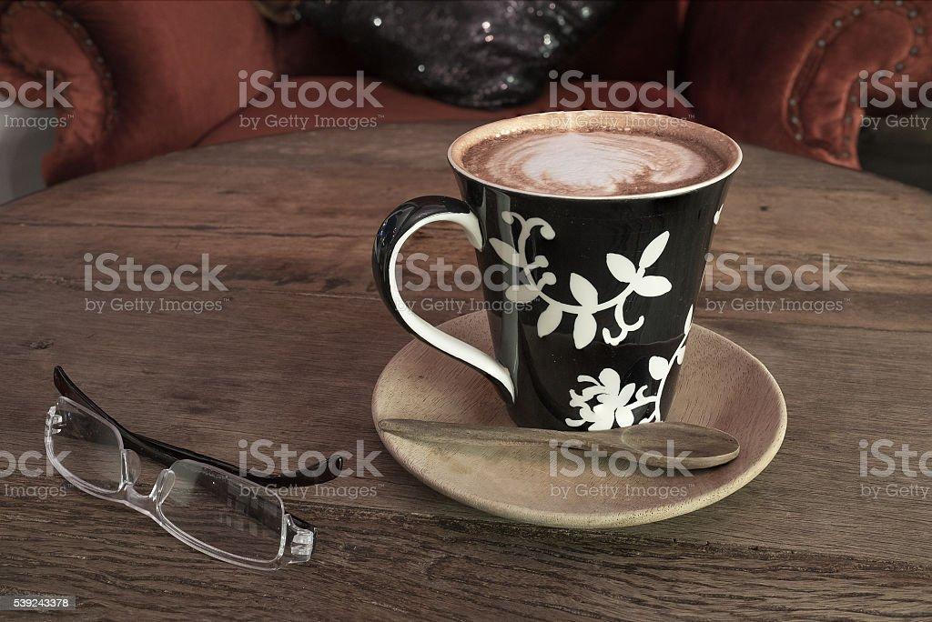 hot coffee sunglasses royalty-free stock photo