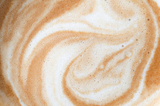 hot coffee surface background - cream background stock pictures, royalty-free photos & images
