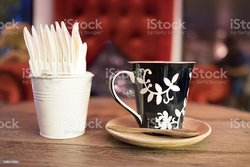 hot coffee tissue paper royalty-free stock photo