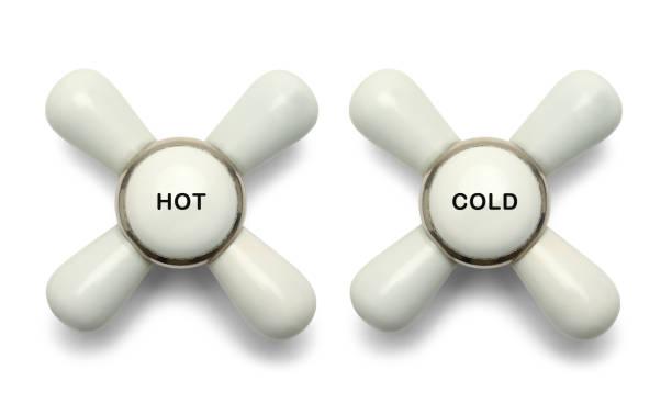 botões de frios quentes - maçaneta manivela - fotografias e filmes do acervo