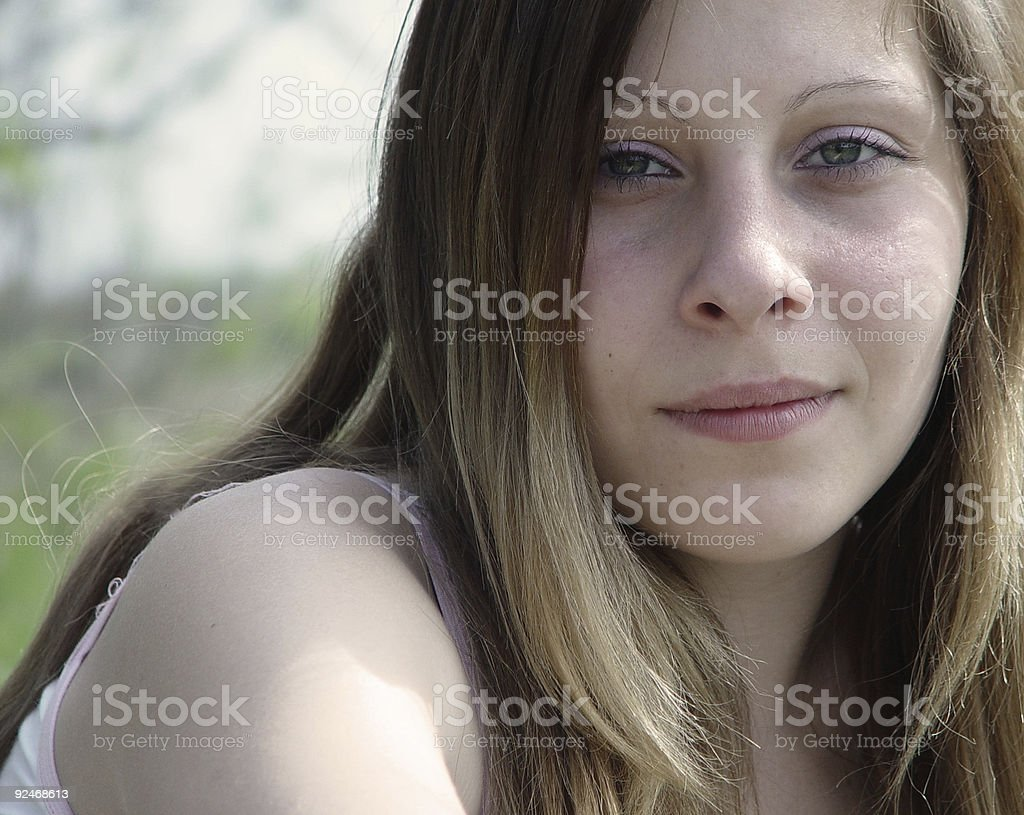 Hot College Girl Royalty Free Stock Photo