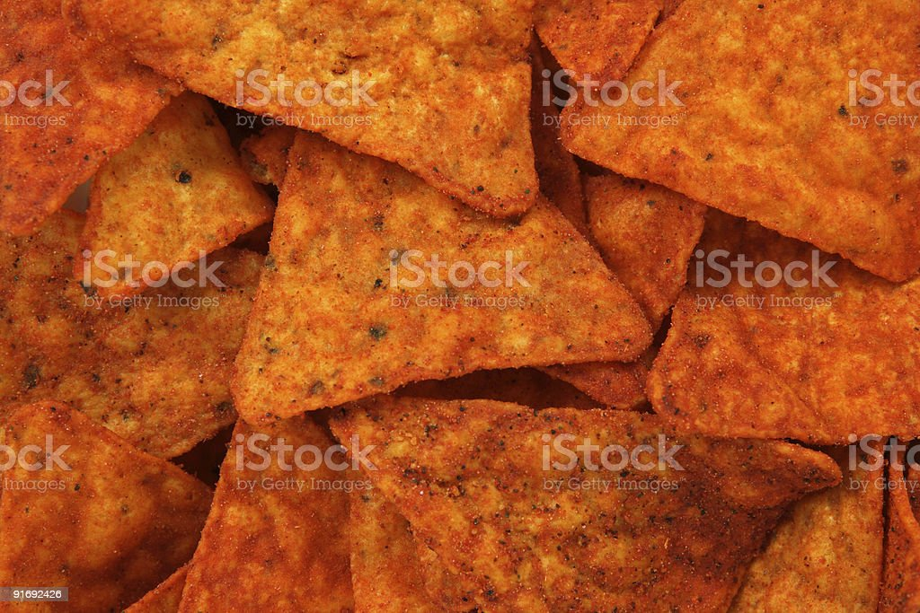 Hot corn chips background