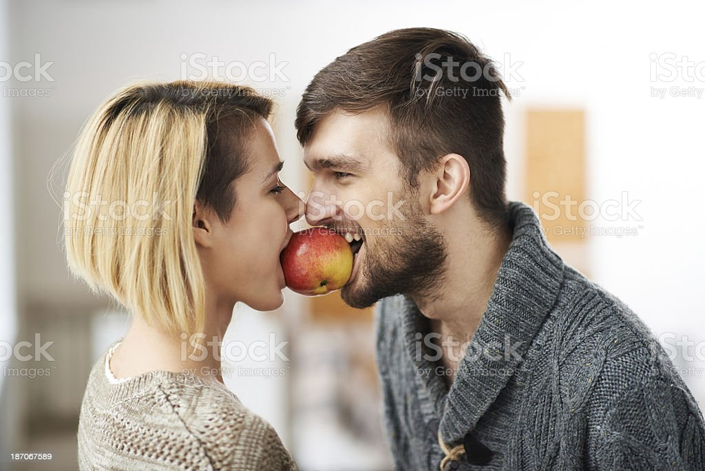 Hot couple royalty-free stock photo