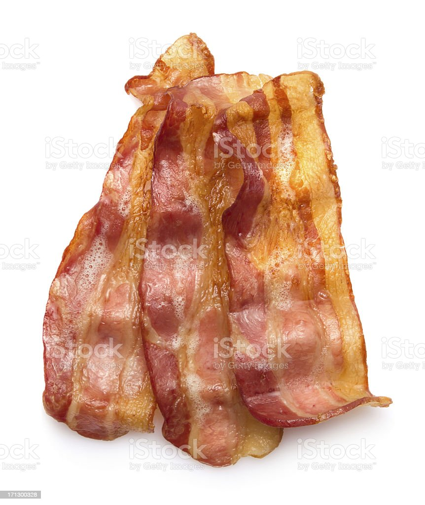 Hot crispy bacon stock photo