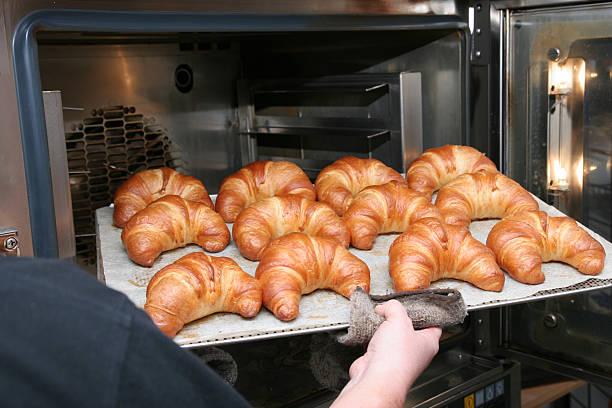 Hot Croissants stock photo
