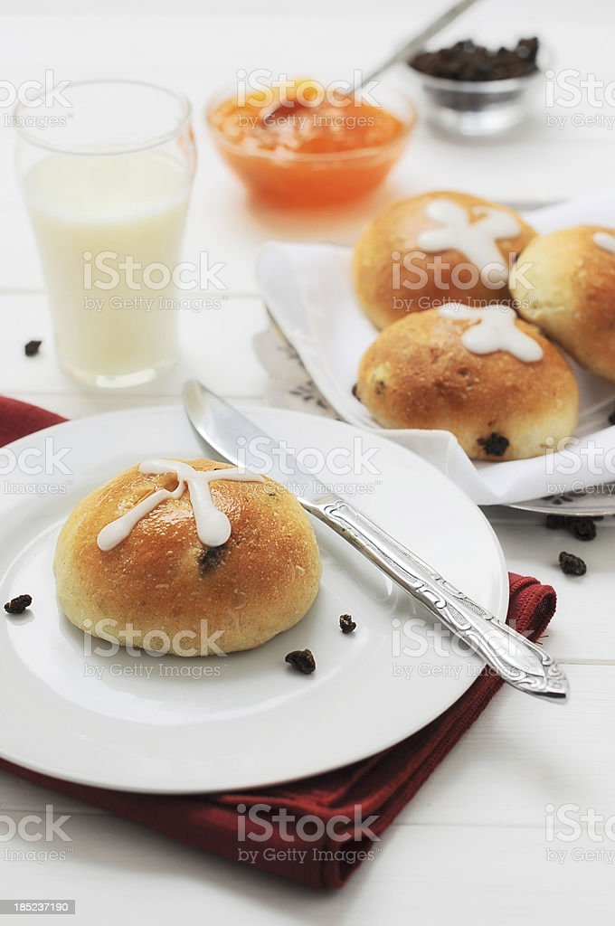 Hot Cross Buns - Easter Morning royalty-free stock photo