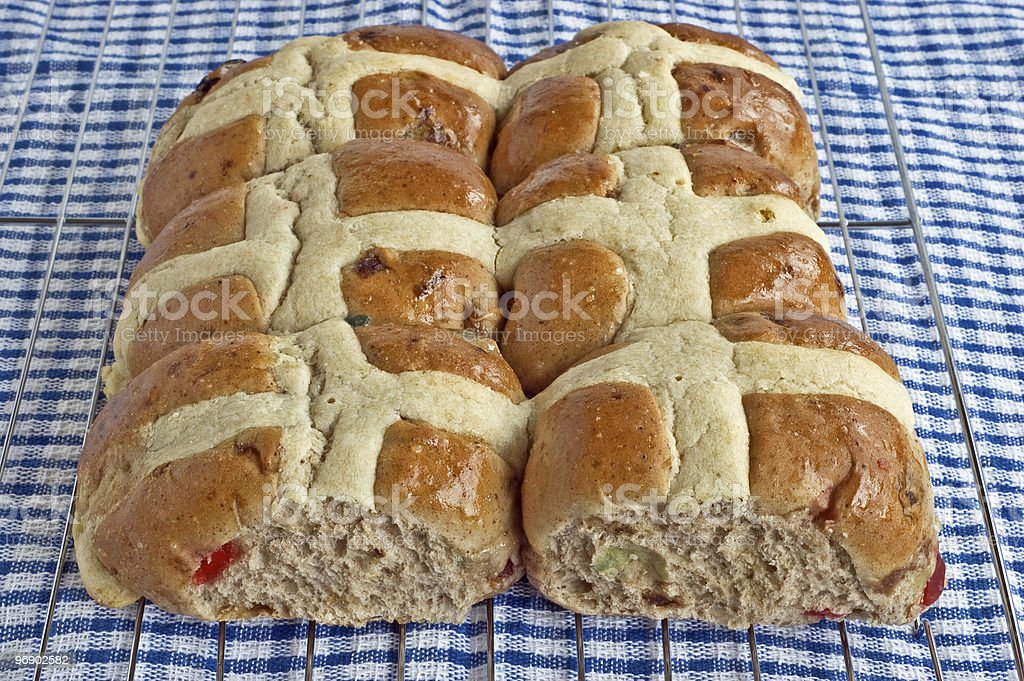 Hot cross buns royalty-free stock photo