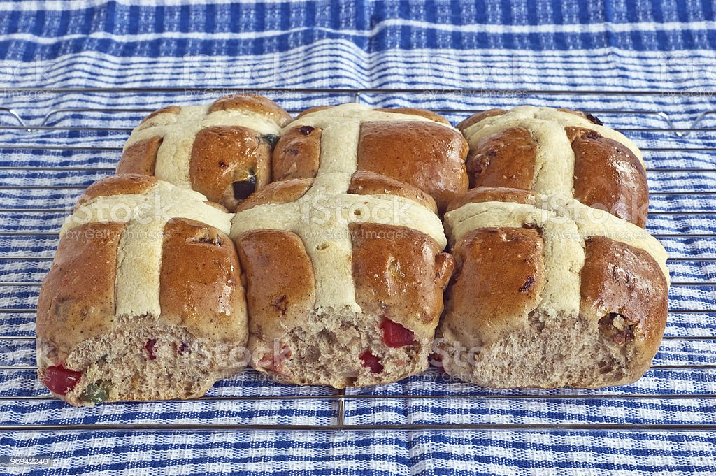 Hot cross buns royalty-free stock photo