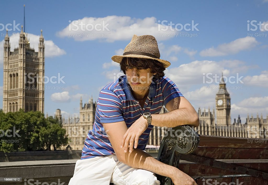 Hot day in London royalty-free stock photo