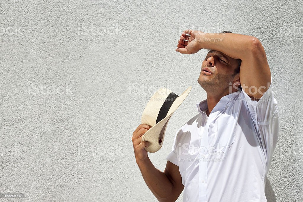 Hot day stock photo