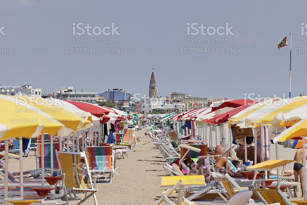 Hot days at Caorle royalty-free stock photo