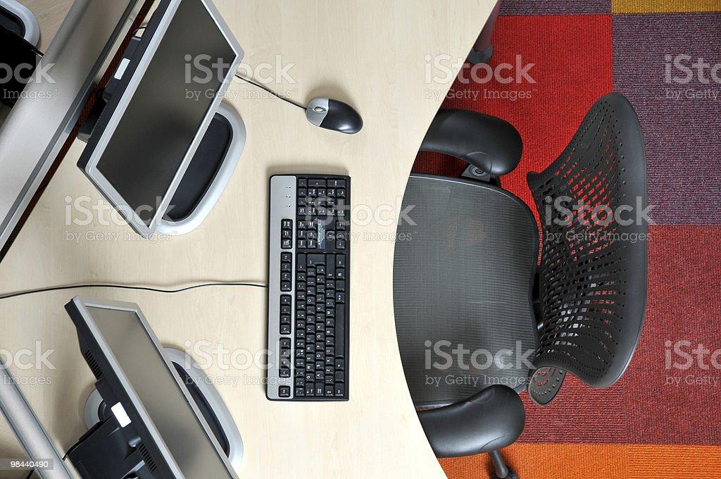 Hot desk stock photo