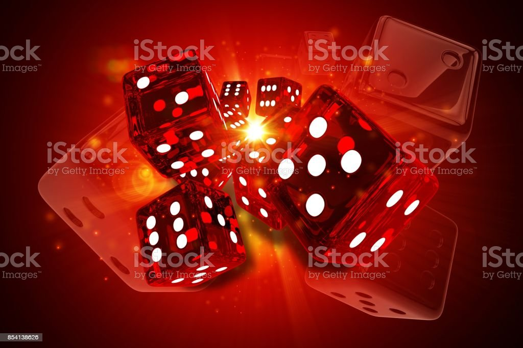 Hot Dices Casino Games stock photo