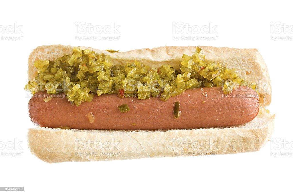 Hot Dog And Relish royalty-free stock photo