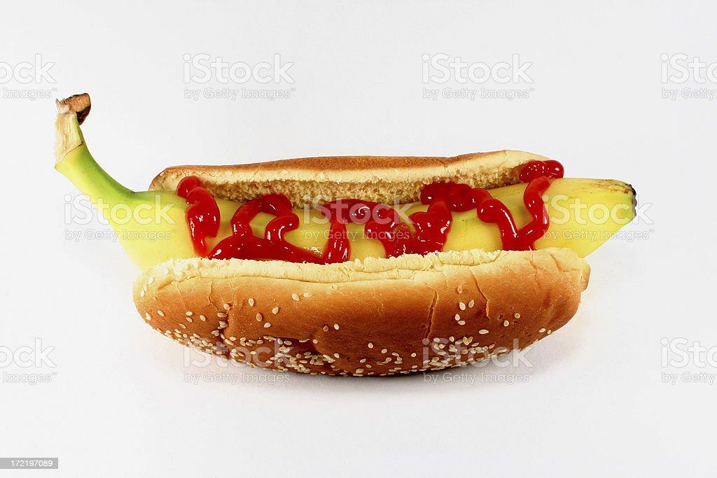Hot Dog Banana royalty-free stock photo