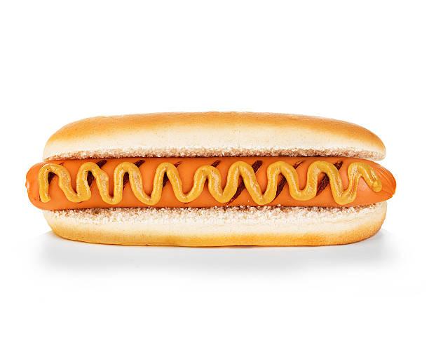 Hot dog isolated stock photo