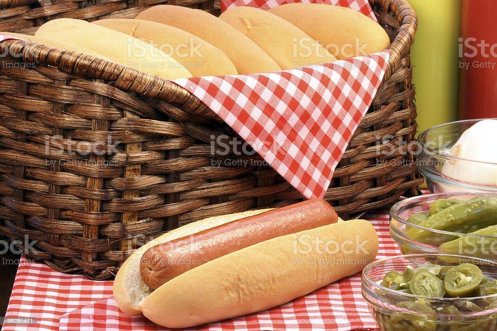 hot dog picnic foto stock royalty-free