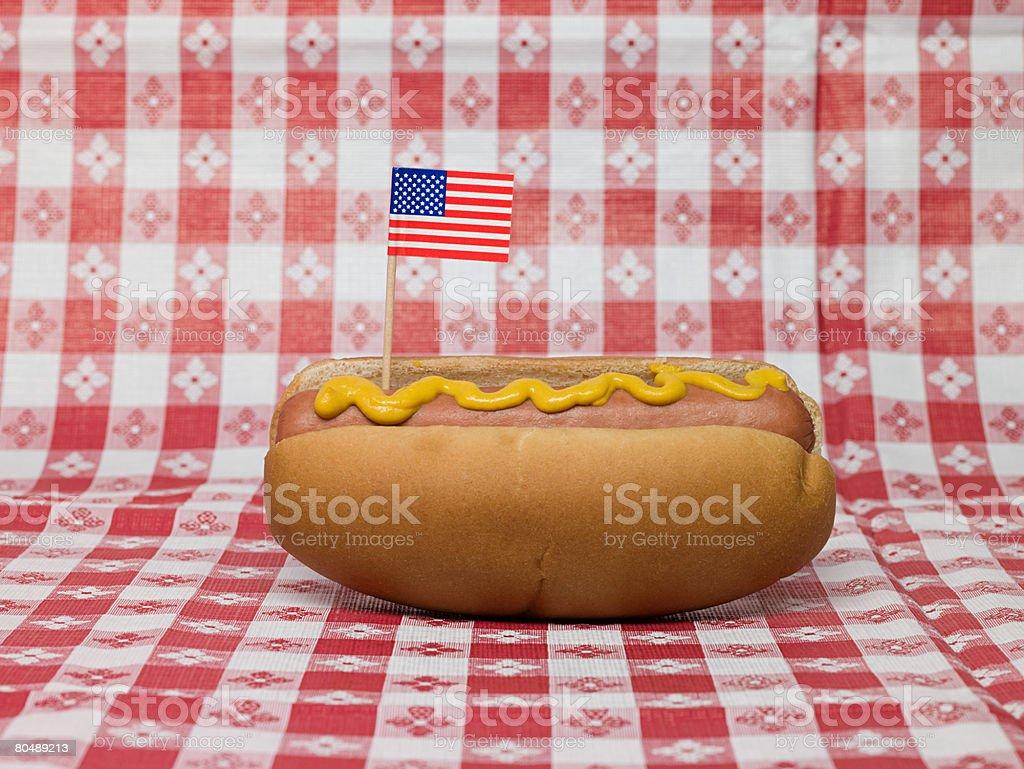 Hot dog-Schnellimbiss Lizenzfreies stock-foto