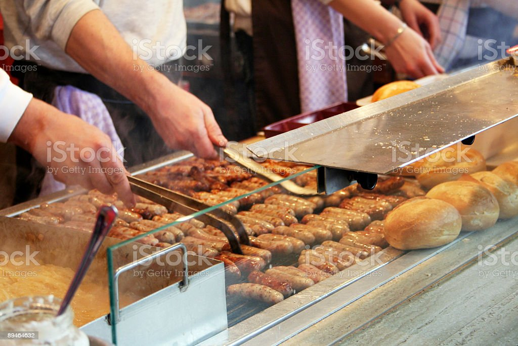 Hot dog Stall in Germany royalty-free stock photo