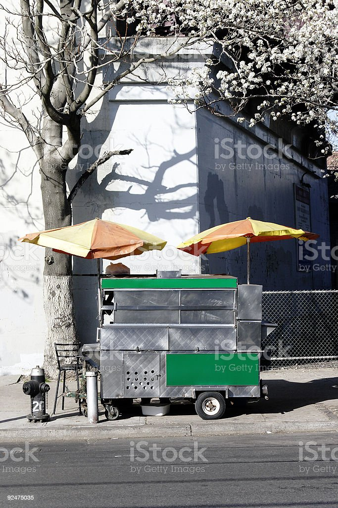 Hot Dog Stand - New York Street Corner royalty-free stock photo