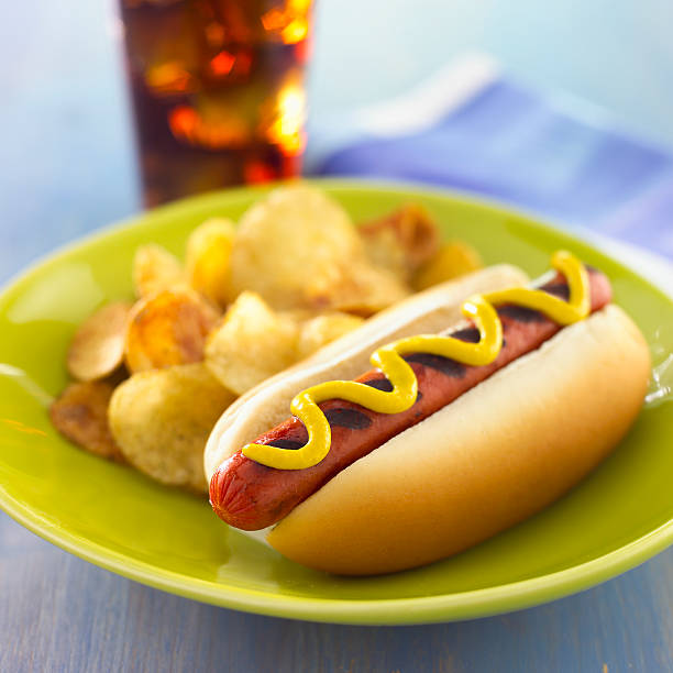 Top 60 Potato Chip Hot Dog Soda Drink Stock Photos Pictures And