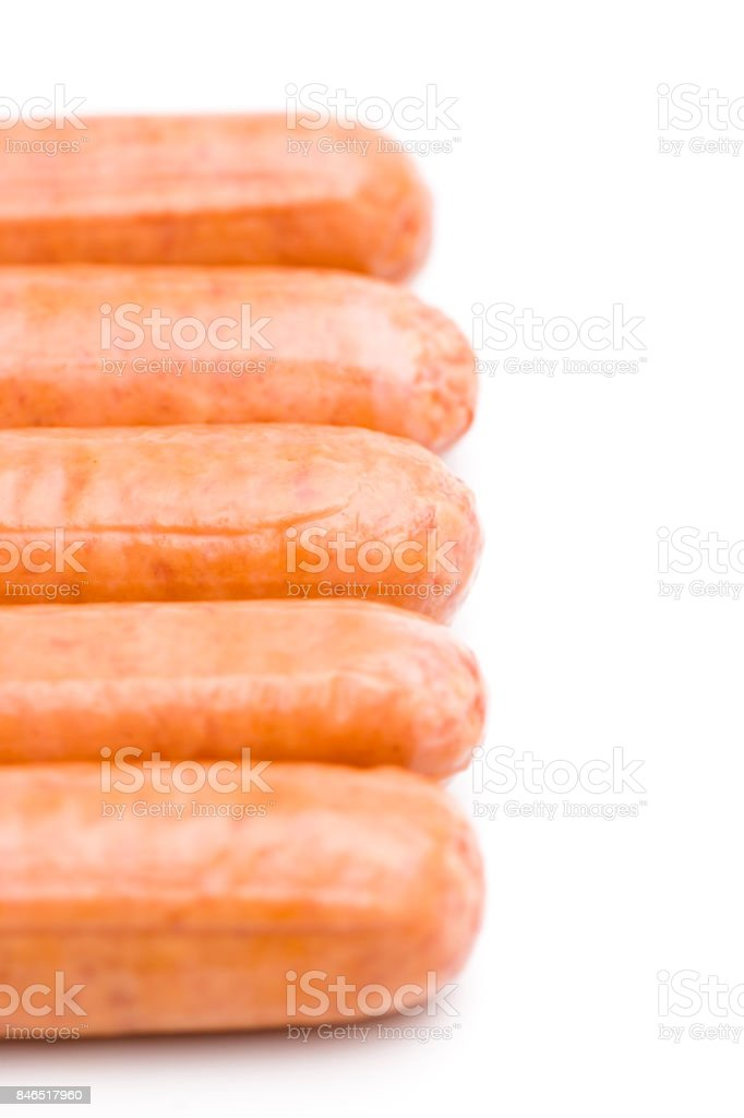 Hot Dogs Isolated on a White Background stock photo