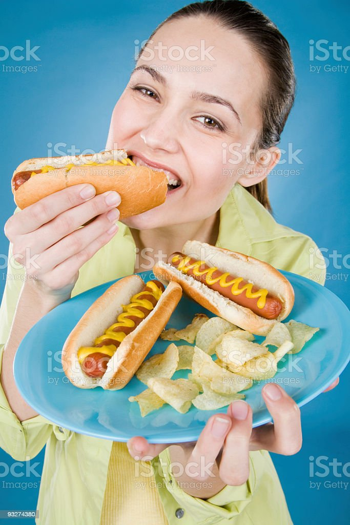Hot Dogs royalty-free stock photo