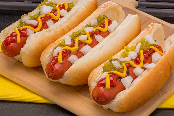 Hot Dogs Ready to Eat stock photo