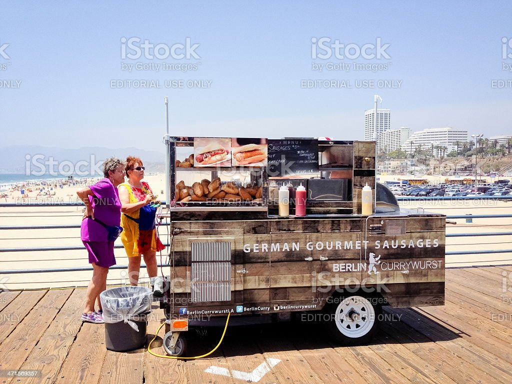 Hot Dogs Stand on Santa Monica Pier royalty-free stock photo