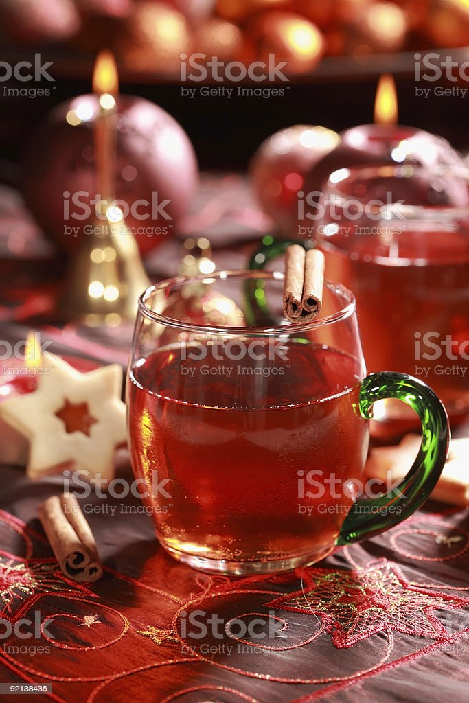 Hot drink for Christmas royalty-free stock photo