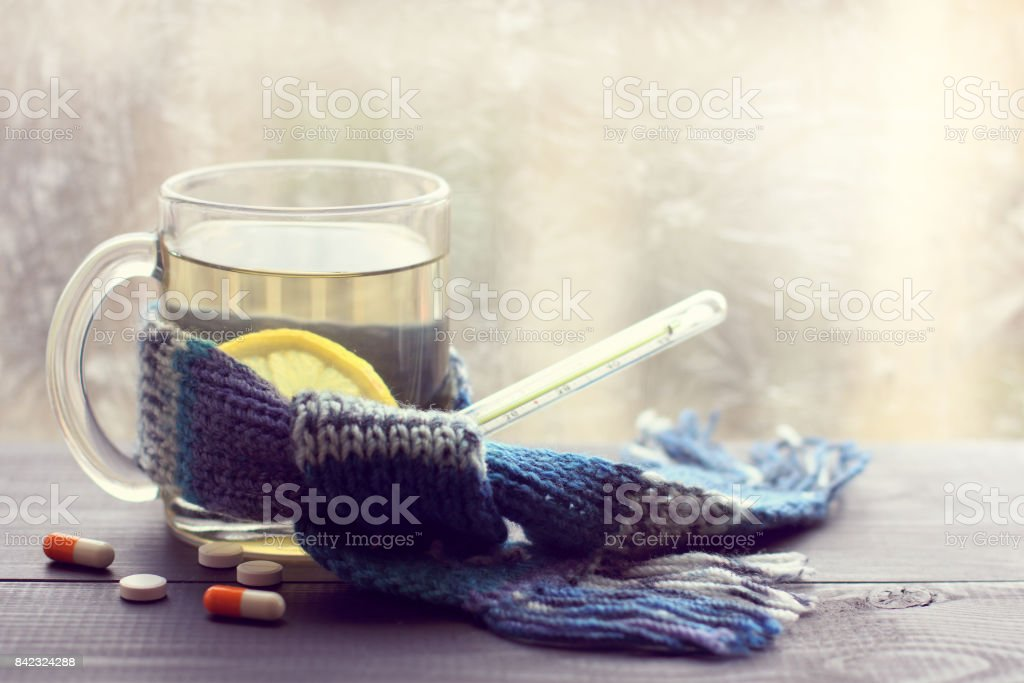 hot drink for convalescence stock photo